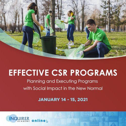 Effective CSR Programs