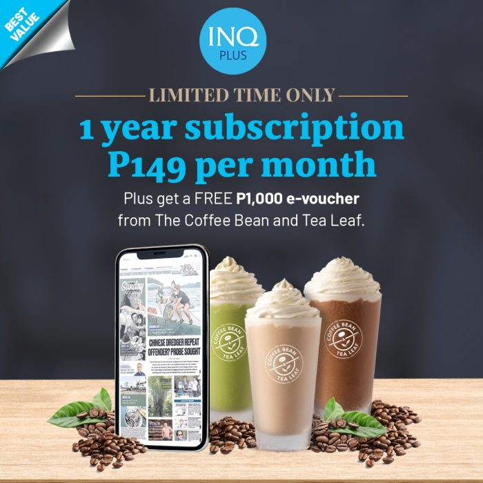 Inquirer Plus and CBTL Promo